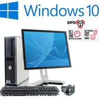 full dell dual core desktop tower pc u0026 tft computer with windows 10 u0026 wifi u0026