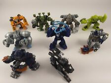 Lot of 9 Hasbro Transformers Mini Robot Heroes Figures Pre Owned 2007 and 2008