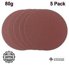 """8"""" inch Sanding Disc, 80 grit, 5 Pack, Peel & Stick, AL Oxide for Disc Sanders"""