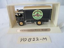"1918 Atkinson Steam Wagon ""Beamish"" Ygb22-M Matchbox Great Beers of the World"
