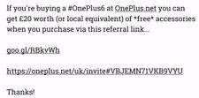 Accessori gratuito se acquisti ✨ ONEPLUS 6 ✨ da ONEPLUS. COM-Controlla la descrizione!