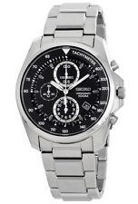 SEIKO Chronograph SNDD63 SNDD63P1 Mens Black Dial 100m Steel Quartz Watch