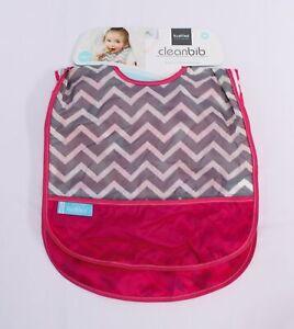 Kushies Girl's 3-Pack Waterproof Cleanbib KJ8 Pink/Multi Size 12M NWT
