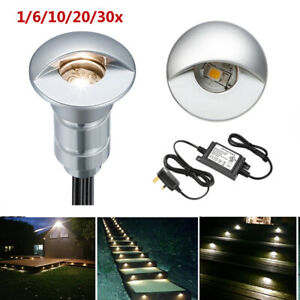 26mm Half Moon Recessed Outdoor LED Deck Step Stair Light Yard Path Garden Lamp