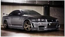 Carbon Extension Fit For 99-02 Nissan R34 GTR Nismo Side Skirt Attachment