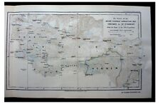 1922 MALLORY  Bruce  FINCH  Mount Everest Expedition Color Map - 15 PHOTOS - 12