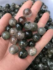 12-15pc Natural Phantom Quartz Crystal Sphere Ball Garden Scenic Gemstone-Brazil