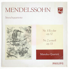 MANOLIU QUARTETT PROMO Mendelssohn string quartet n°1 & 2 philips A 02007 L LP