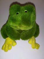 "Green And Yellow Frog 6"" Plush Stuffed Animal"