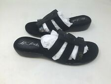 NEW! Life Stride Women's Slip On Sandals Black Size:8 9O4 a