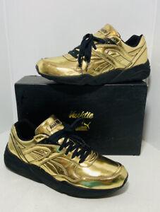 Puma Trinomic R698 x Vashtie Mens Trainers Lace Up Shoes Low Gold 358838 01