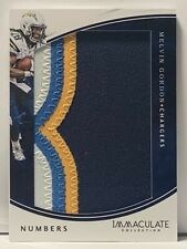 Melvin Gordon 2016 Immaculate Jumbo Numbers Patch # 23/25 Chargers