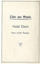 Hotel svedese Cöln il Reno Casa Prima Classe storica promozionale 1906