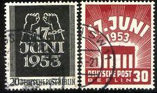 Germania Berlino Occidentale 1953 Insurrezione 17 Giugno n. 96/97 usato (l680)