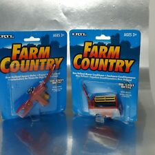 2 Ertl, Farm Country diecast toys New Holland mower conditioner & Square Baler