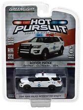 1:64 Greenlight *HOT PURSUIT R23* 2016 Ford SUV Utility DENVER POLICE NIP!