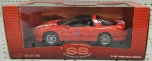 WELLY 1/18 2002 Chevy Camaro SS Red Diecast Model #9861W 35 Anniv Ed MINT - NEW