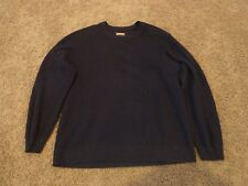 Mens 1901 crew neck knit sweater, navy Blue, size L