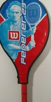 """Federer 23"""" Volcanic Frame Wilson Tennis Racket 3-5/8 grip + Cover  + NEW GRIP"""