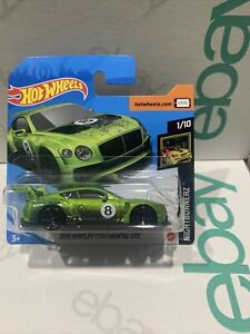Hot Wheels New 2020 Short Card 2018 Bentley Continental Gt3 Very Hard To Find !!