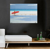 Art Painting Beach canvas Australia ocean surfing surf waves  seascape seagull