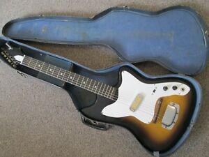 Harmony Bobcat - early to mid sixties - USA made - blues guitar - original case.