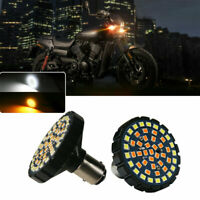 TurningMax 2-Inch 1157 LED White//Amber Switchback Front Turn Signal Light Bulbs For Harley Davidson,Full Can-bus No Hyper Flash No Resistor Required Replacements