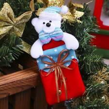 Christmas Tree Pendant Bear Storage Bag Xmas Party Decor Ornaments New Year Gift