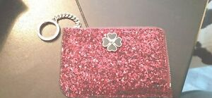 KATE SPADE MEDIUM L-ZIP CARD HOLDER WALLET ODETTE GLITTER -NEW WITH TAGS