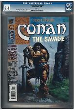 CONAN THE SAVAGE #1 CGC 9.4 (8/95) MARVEL COMICS white pages