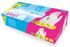 100x Vinyl Einweghandschuhe Einmalhandschuhe Handschuhe Schutzhandschue M,L