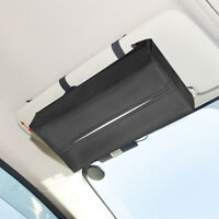 Universal PU Leather Car Sun Visor Tissue Paper Napkin Storage Box Holder Co VG