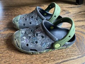 Crocs Boys Sandals Toddler Rubber Summer Green Size 11 ~ NICE ~