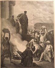 PAUL AT EPHESUS BY GUSTAVE DORE c.1889 PRINT