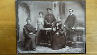 Großes CAB Foto Soldat mit Familie - Bamberg 1900er