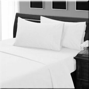 1200Thread Count Egyptian Cotton Complete Bedding Items Single White Solid