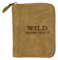 Wild Things Only Cuero Monedero Hombre - Braun Rfid