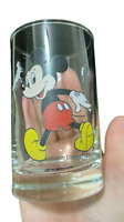 "Walt Disney Productions Glass Cup Mickey Mouse Collectible 4"" Tall Tumbler"