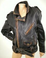 Contraband Mark Wahlberg/'s EFFETTO INVECCHIATO UOMO SLIM FIT 100/% real leather jacket
