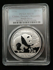 2016 1oz .999 Fine Silver Chinese Panda Silver Coin PCGS MS70