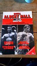 Royal Albert Hall Boxing Souvenir Programme Frank Bruno/Mark Kaylor 1983