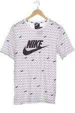 Nike T-Shirt Herren Oberteil Shirt Gr. M Baumwolle weiß #137102d