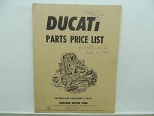 1977 Ducati Motorcycle Parts Price List Catalog Manual Book L9550
