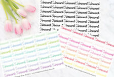 Homework Script Functional Planner Stickers in Cool, Warm or Black Colours UK