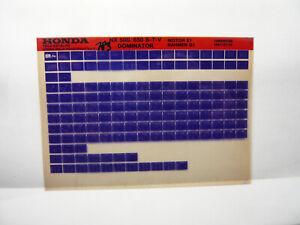 Honda  NX 650 500  Teile Katalog auf Microfich  Liste Fich Parts Catalogue 1997