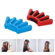 DIY French Braid Sponge Holder Clip Hair Twist Tool Braider Styling Blue