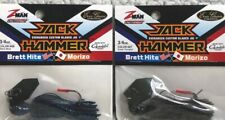 (2) Z-Man Jack Hammer Chatterbaits 3/4oz Black/Blue & Green Pumpkin 41