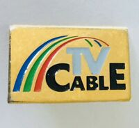 TV Cable Television Retro Pin Badge Vintage Collector (F5)
