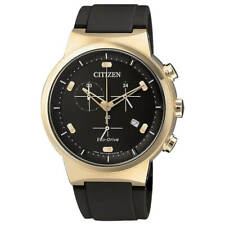 Citizen At2403-15e Eco-drive 41mm Men's Chronograph Black Rubber Watch