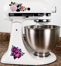 Delicate Garden Rose Full Color Kitchenaid Mixer Mixing Machine Decal Art Wrap